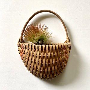 Boho Wicker Rattan Wall Basket Pocket Woven